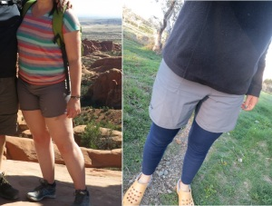 before and after shorts
