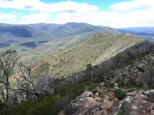 The Cathedral Range- looking south along the ridge towards The Farmyard
